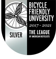 Bike Friendly University Silver Seal 2017-2021
