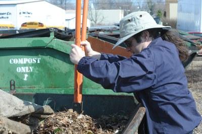 Brian Barnes managing UofL Food Waste Composting Program.