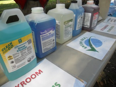 Green Seal Certified cleaning supplies at CSD