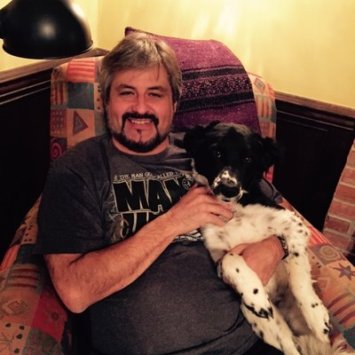 Dave Simpson and Dog