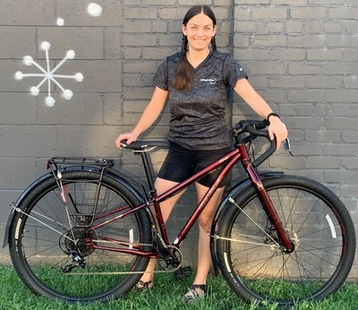 Emily Coleman + new bike (2019 NBC winner)