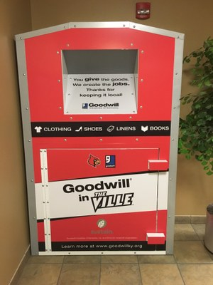 Goodwill Collection Bins in UofL Housing
