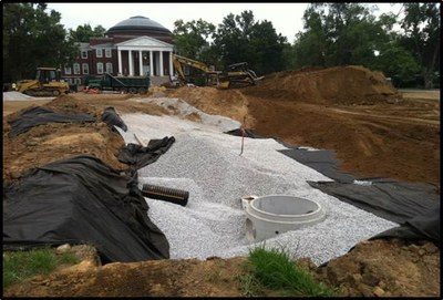 Stormwater Infiltration Basin - Grawemeyer Oval 2011