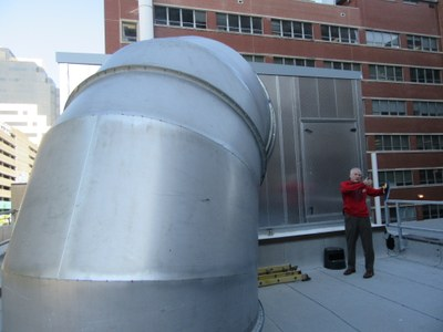 New Air Handling Unit at Research Resources Building