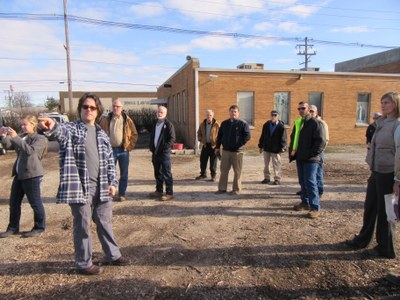 WKU Delegation Tours UofL Composting