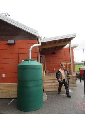 Phoenix House Rain Barrel