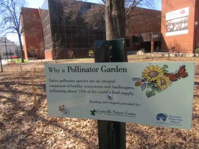 Pollinator Garden sign