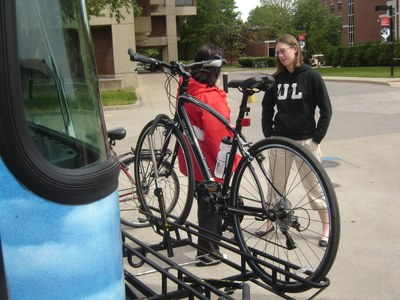 Bikes can be taken on any TARC bus (always free with UofL ID)