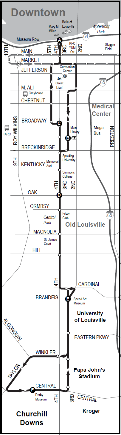 LouLift Route 1 Map