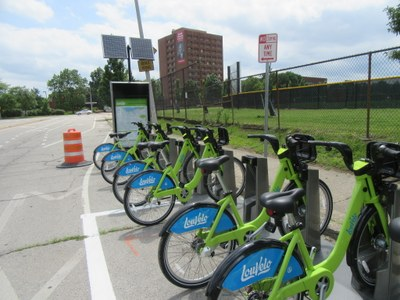 LouVelo BikeShare Station installed at Brook+Cardinal