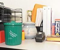 Mini-bin on desk