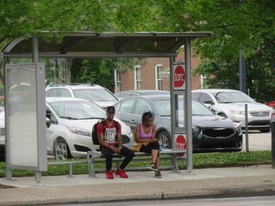 New TARC shelter at 4th & Cardinal (May 2017)