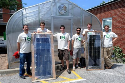 RE3 Club installs solar at Garden Commons