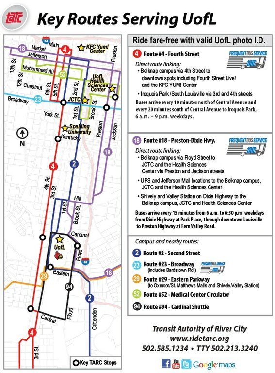 TARC Campus Connector map+flyer