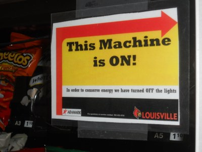 Vending Lights Off at UofL