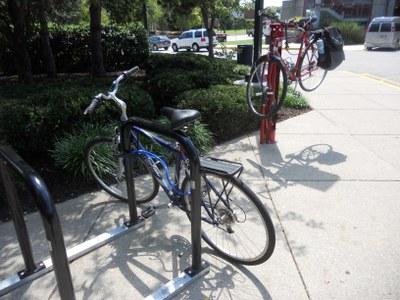 Bike Fix-It Station + Racks at SAC Floyd entrance
