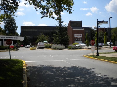 Davidson Hall, behind North Information Center Booth
