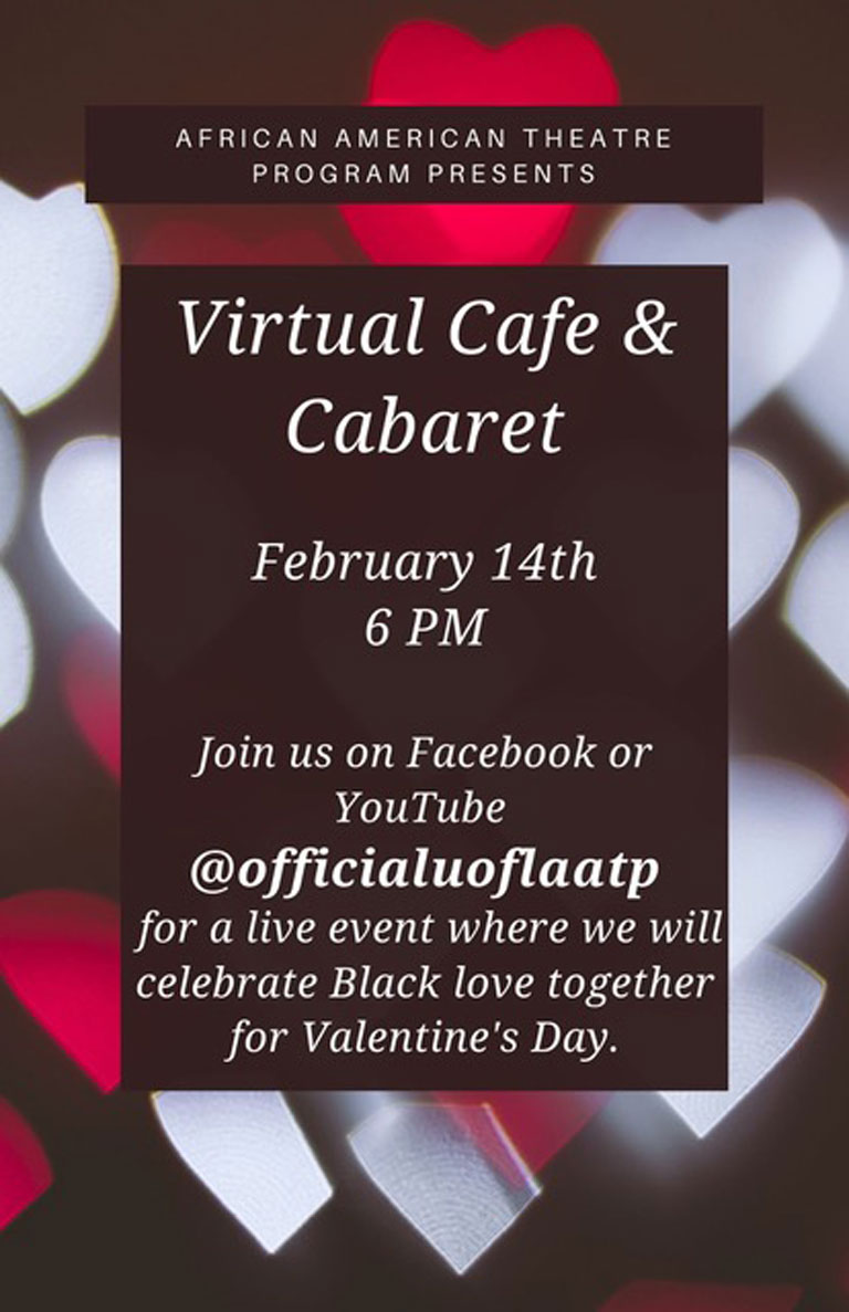 Virtual Cafe and Caberet Feb. 14 6pm