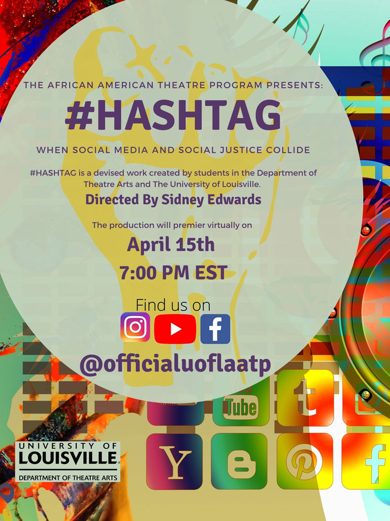 #Hashtag, when social media and social justice Collide, April 15th, 7pm