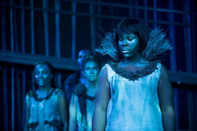 Actors portaying Stones in Sarah Ruhl's Eurydice