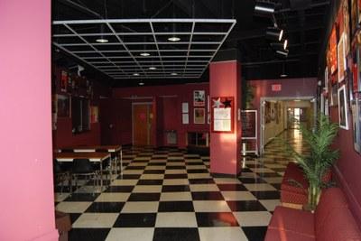 lobby of Thrust Theatre