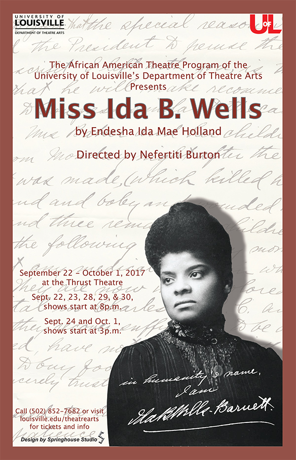 Miss Ida B. Wells poster past production
