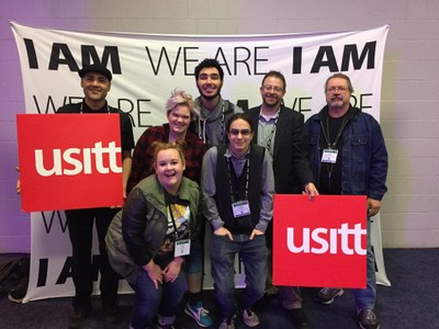 usitt, I am we are, students with signs