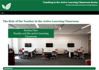 The Role of the Teacher in the Active Learning Classroom
