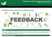 Feedback and Assessment to Further Learning