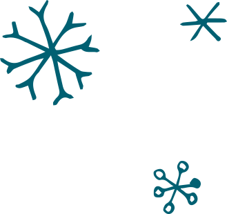 3 Blue Snowflakes
