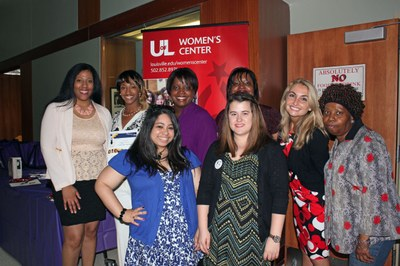 College Women's Leadership Conference Committee and Speaker Dr. Carmen April