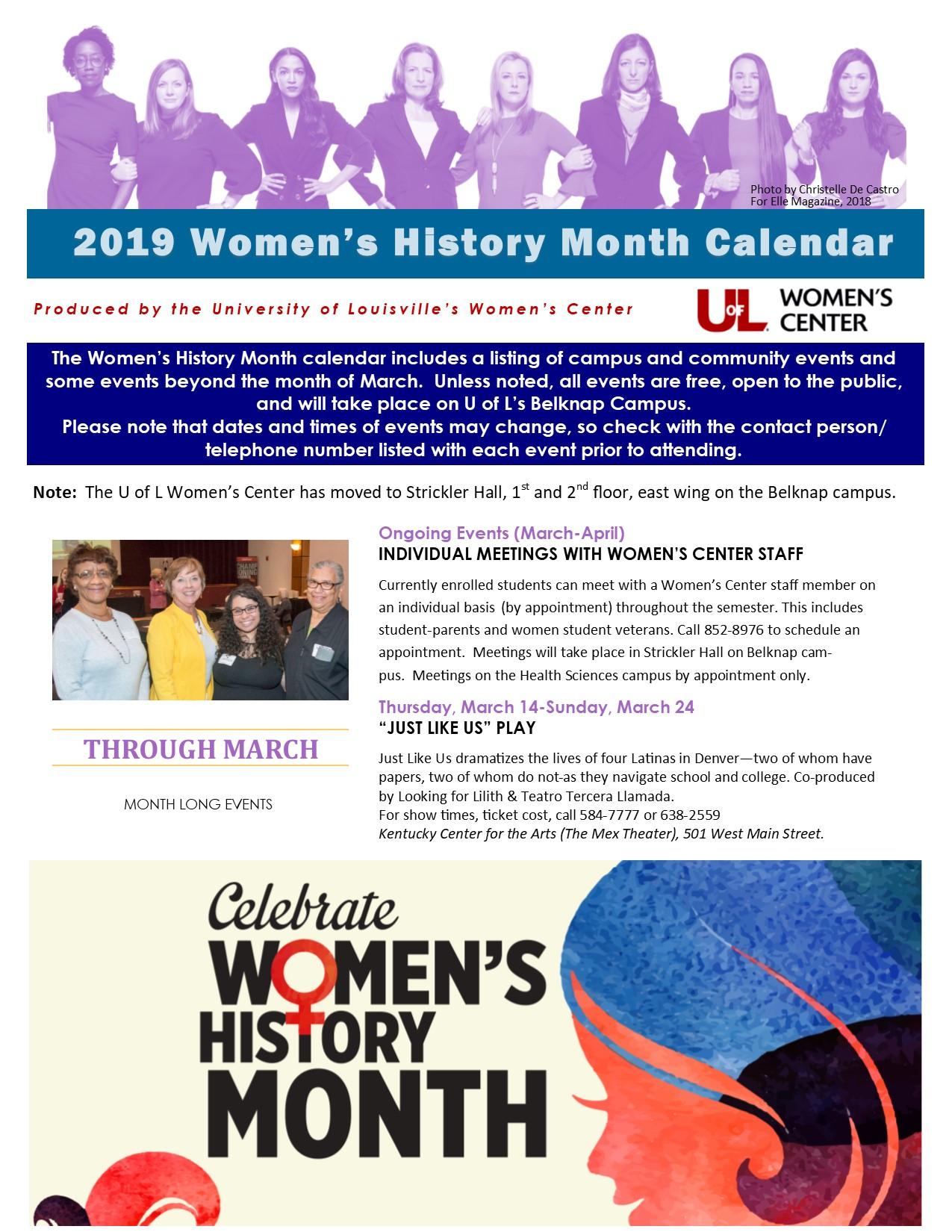 University Of Louisville Calendar 2019 Women's History Month 2019 — Women's Center