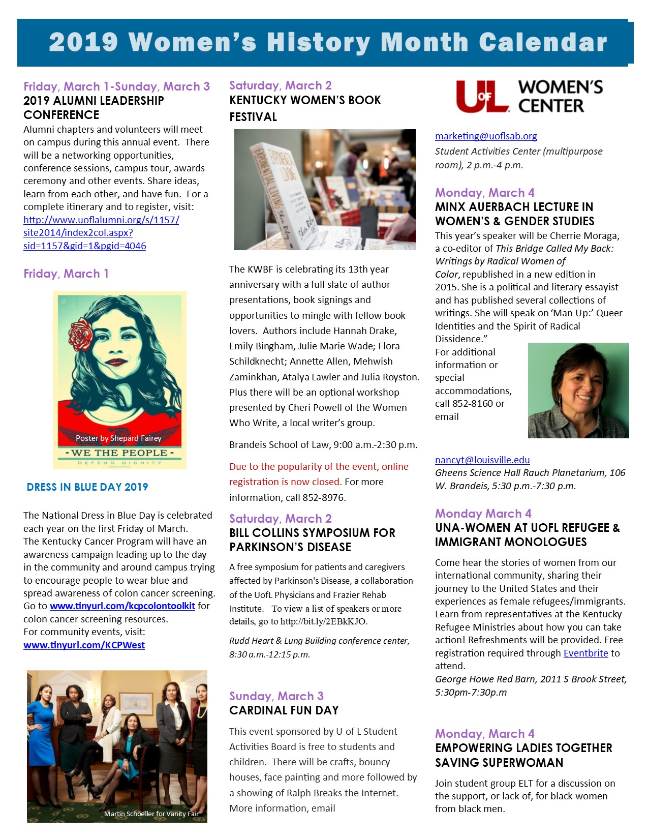 Uofl Calendar 2019 Women's History Month 2019 — Women's Center