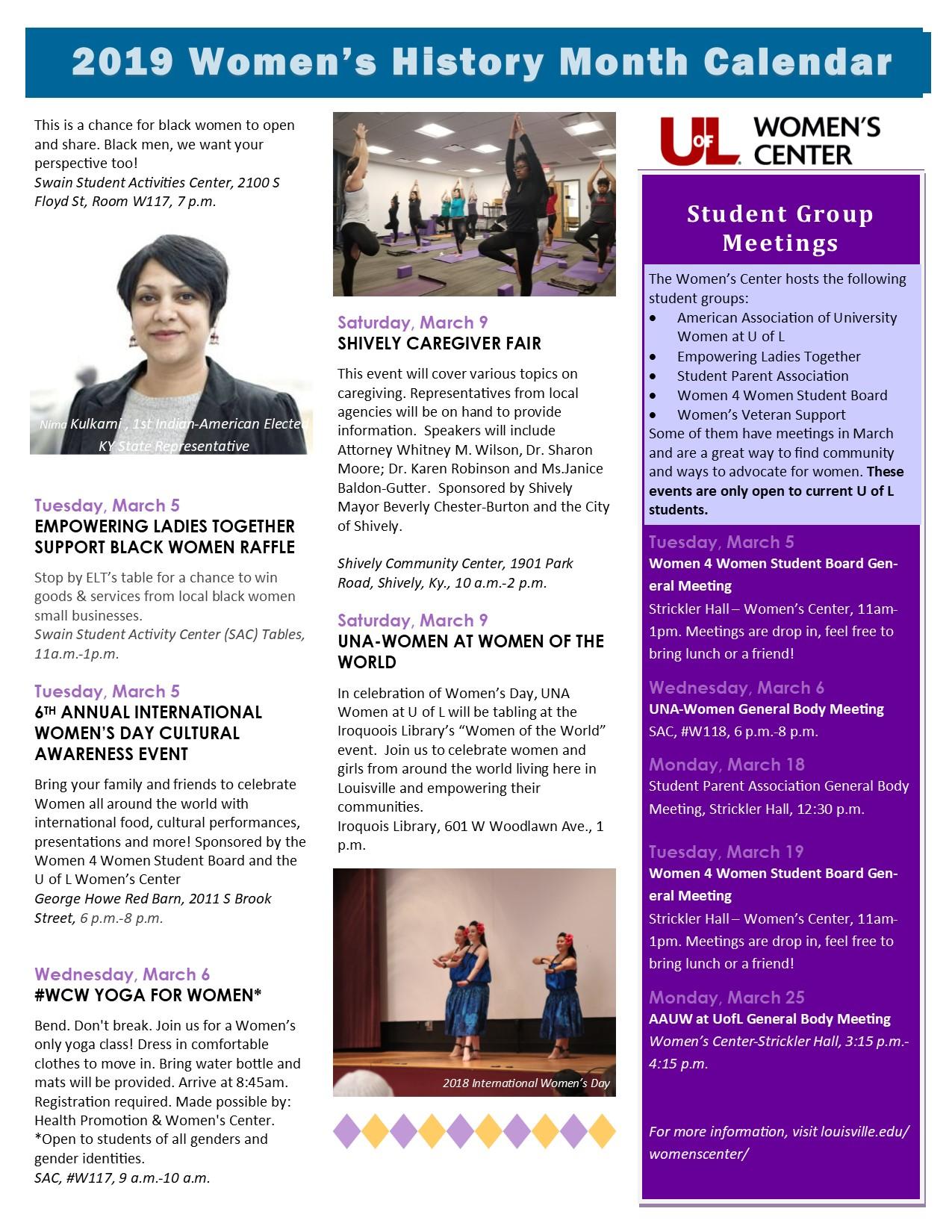 Uofl Calendar 2019 Women's History Month 2019 — Women's Center