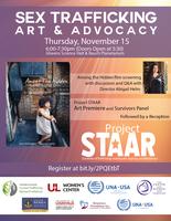 Sex Trafficking, Art & Advocacy to be held Nov. 15
